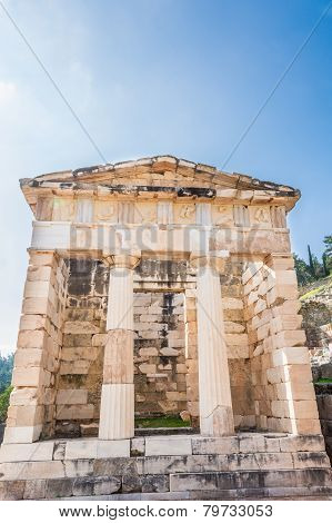The Athenian Treasury At Delphi, Greece