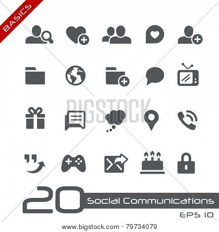 Social Communications Icons // Basics
