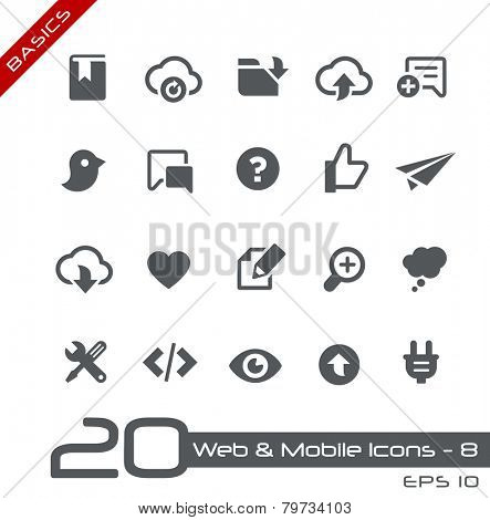 Web & Mobile Icons - 8 // Basics