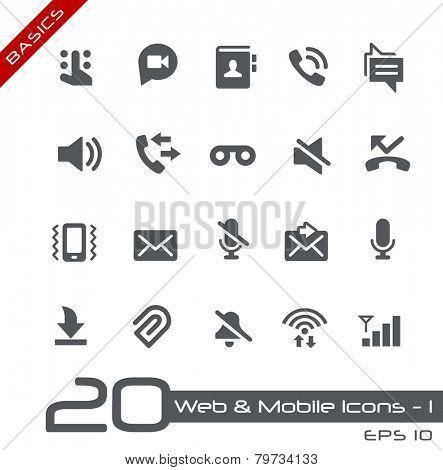 Web & Mobile Icons - 1 // Basics