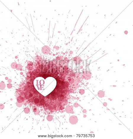 Vector Happy Valentine's card with pink spots