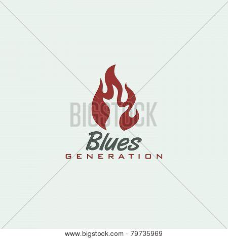 music genre fire label theme