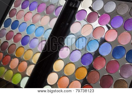Colourful Display Of Eye Make-up