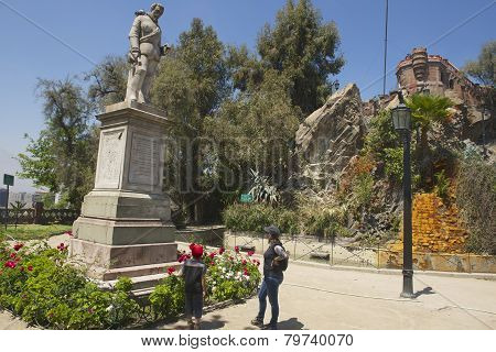 Monument to the 1st Royal Governor of Chile, Santiago, Chile.