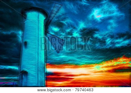 Lighthouse On A Cliff - Fractal Variations