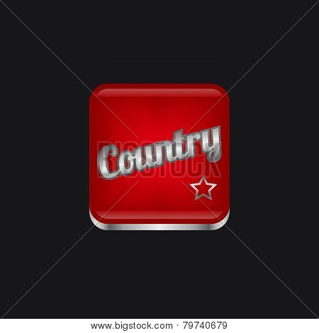 country music genre button