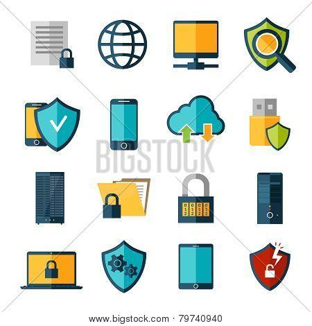 Data Protection Icons Set