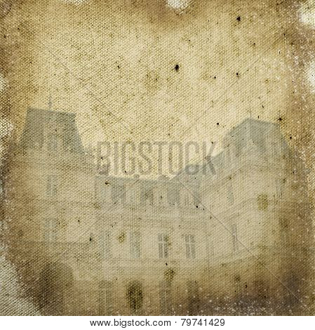 Potocki Palace In Lvov, Ukrainian - Beige  Textile  Background