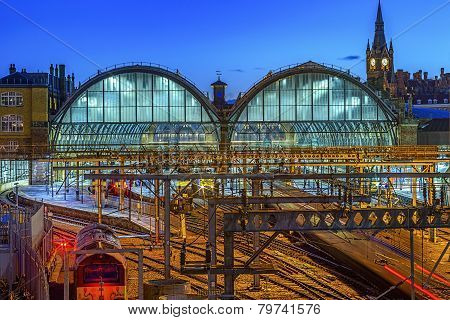 King Cross St Pancras at Twilight
