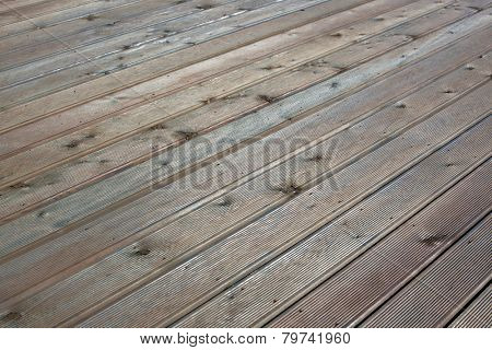 Wooden floor abstract background. Striped diagonal pattern.