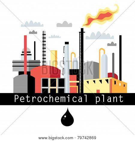 Illustration Petrochemical Plant