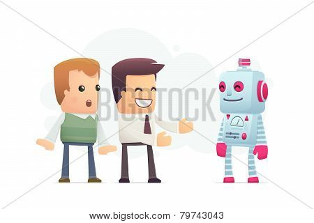 Manager Advertises New Assistant Robot