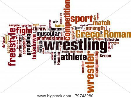 Wrestling Word Cloud