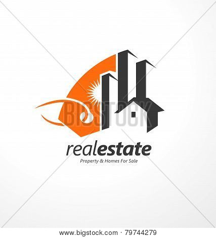 Creative symbol design for real estate company