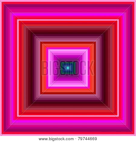 An Hypnotic pink, red and brown squares
