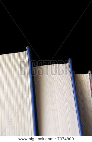 Books Isolated On Black Background