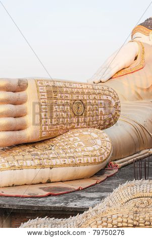 Foot Of Reclining Buddha At Thailand