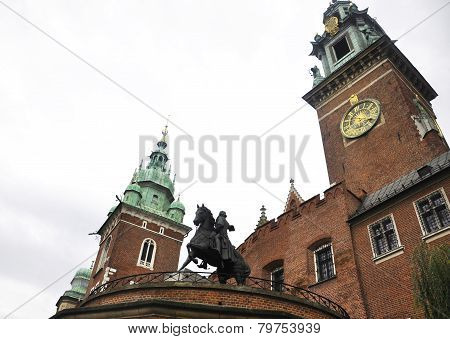 Wawel Church from Krakow in Poland