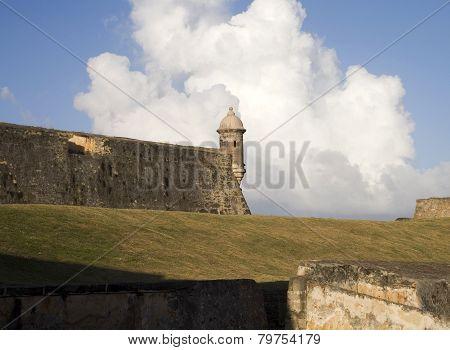 Sentinel At San Felipe Del Morro In Puerto Rico.