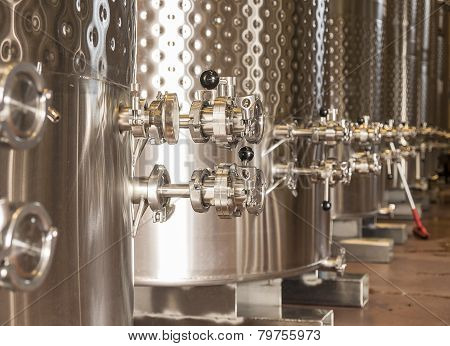 Winery Fermentation Tanks