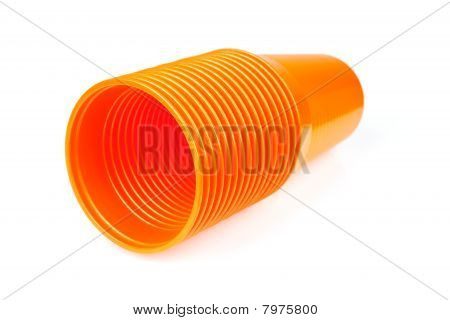 Stack Of Orange Plastic Cups