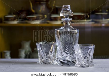 Set Of Cut Glass
