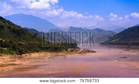 The Mae Klong River In Laos And Thailand.