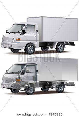Vector entrega / carga de camiones
