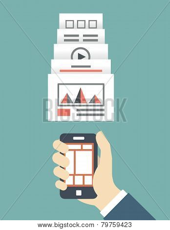 Responsive Web Design Of Mobile Application For Device