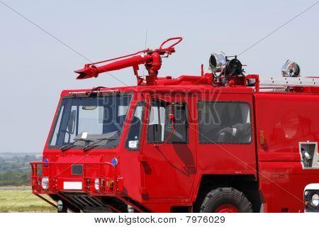 Motor de fogo vermelho Aeroporto