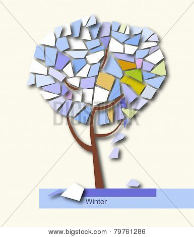 Abstract Colorful Tree Geometrical. Vector Illustration