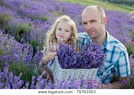 Father And A Charming Little Daughter