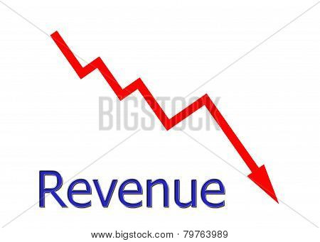 Red Diagram Downwards Revenue
