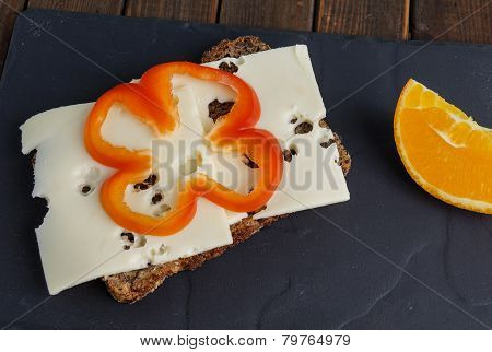 Wholemeal Rye Bread With Cheese