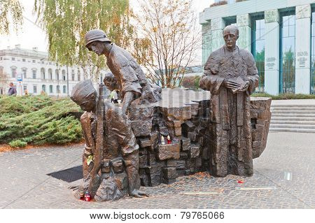 Warsaw Uprising Monument (1989) In Warsaw, Poland