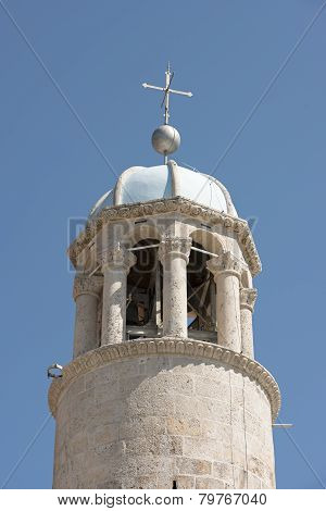 Belfry Of The Church On Man-made Islet Near Perast, Montenegro.