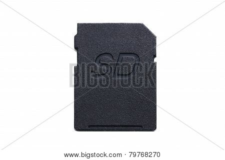 Sd Card On White Background