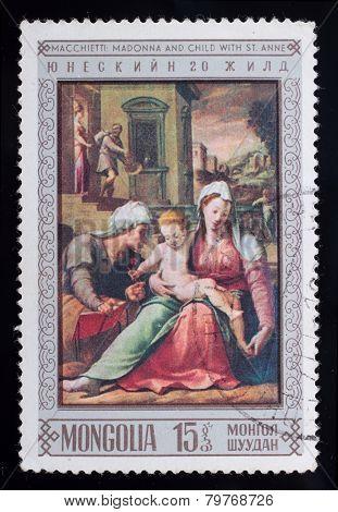 Post Stamp. Macchietti