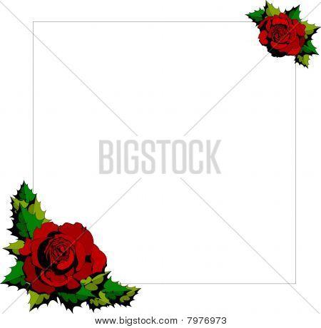 Red Rose cartoon background