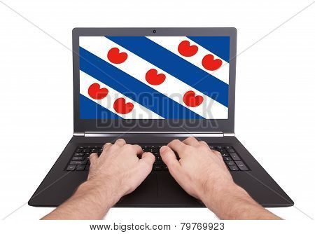 Hands Working On Laptop, Friesland