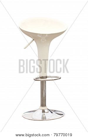 Modern Bar Chair Isolated On White.