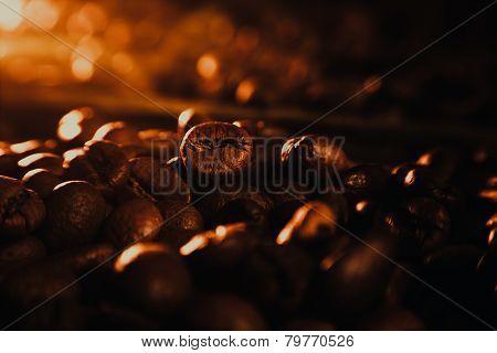 Coffee Beans And Cinnamon Sticks