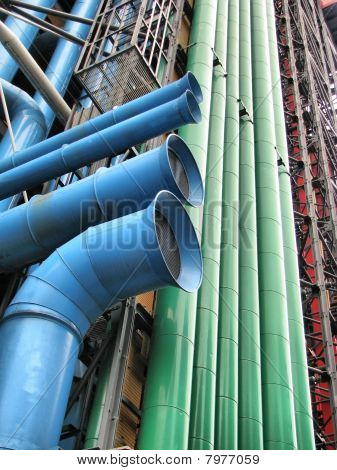 Paris - Pompidou museum's Pipes