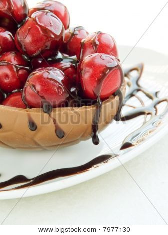 Sweet Cherries In Chocolate
