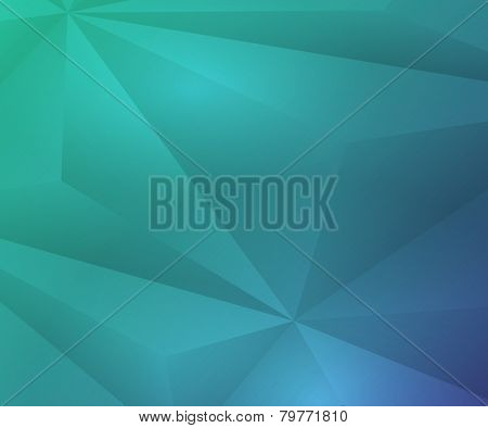 Polygon geometric blue and green background