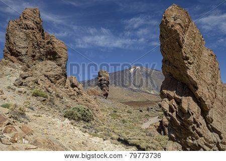 Rocks De Garcia In National Park Las Canadas Del Teide.