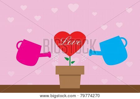 Watering Heart Tree