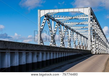 Old Truss Bridge In The Netherlands