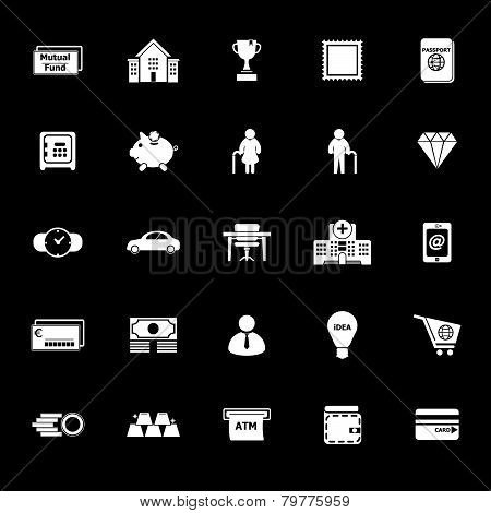 Personal Financial Icons On Gray Background