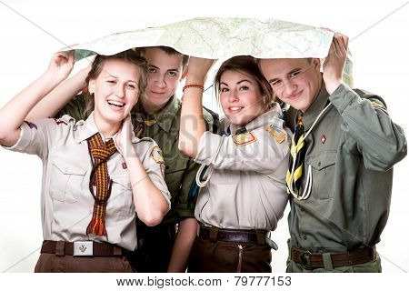 Scouts in studio